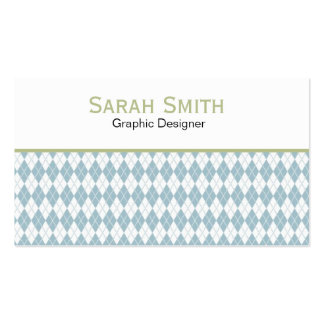 Argyle Pattern Business Card