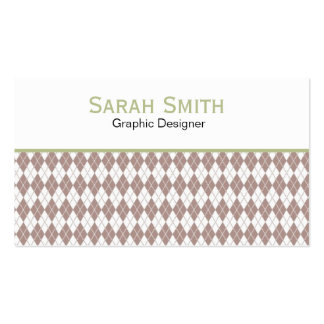 Argyle Pattern Business Cards