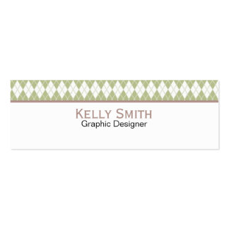 Argyle Pattern Business Card Templates