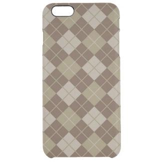 Argyle Pattern Clear iPhone 6 Plus Case