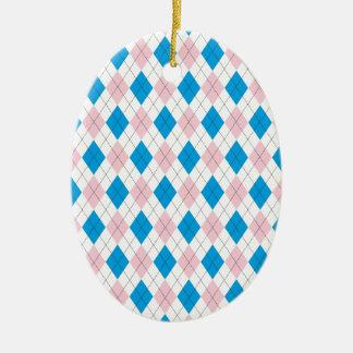 Argyle Pattern Ornaments