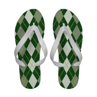 argyle pattern Flip-Flops