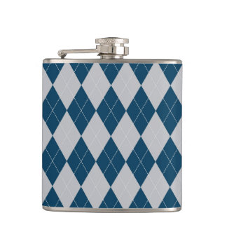 argyle pattern hip flask