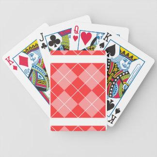 Argyle Pattern Image Bicycle Poker Cards