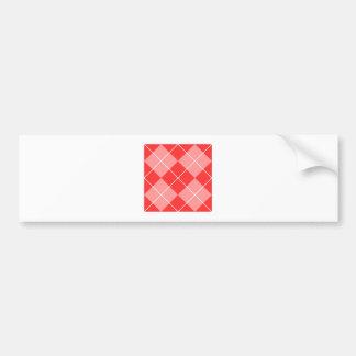 Argyle Pattern Image Bumper Sticker