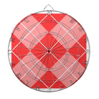 Argyle Pattern Image Dartboard With Darts