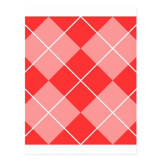 Argyle Pattern Image Postcard