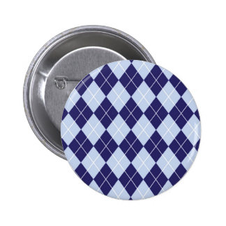 Argyle Pattern in Blue Buttons