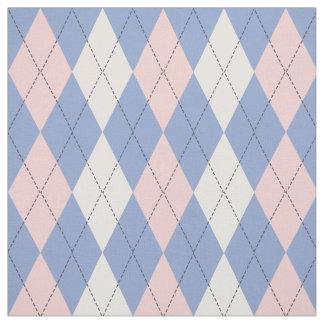Argyle Pattern In Rose Quartz & Serenity Fabric