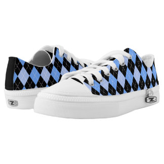 Argyle Pattern Low Top Shoes Printed Shoes