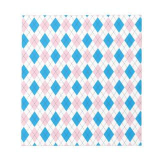 Argyle Pattern Note Pad