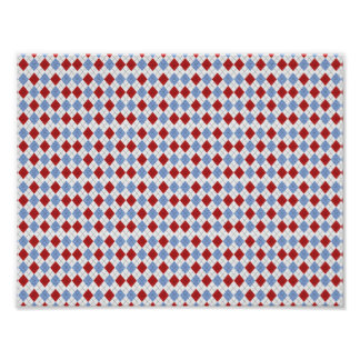 Argyle Pattern Print / Poster