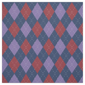 Argyle Pattern Purple and Red Fabric