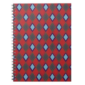 argyle pattern spiral note book