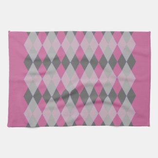 Argyle Pattern Towel