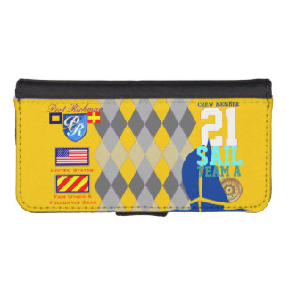 Argyle Pattern USA Port Richman Sailing Phone Wallet Cases