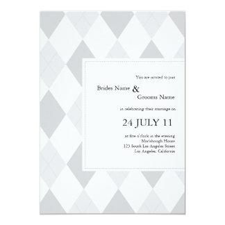 Argyle pattern wedding invites