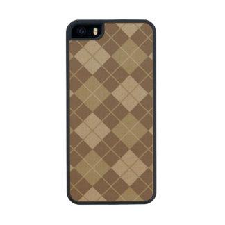 Argyle Pattern Wood iPhone SE/5/5s Case