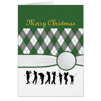 Argyle plaid Christmas card.. Card