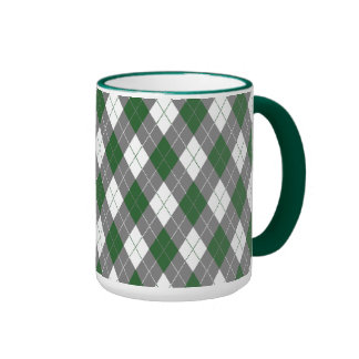 Argyle plaid mug