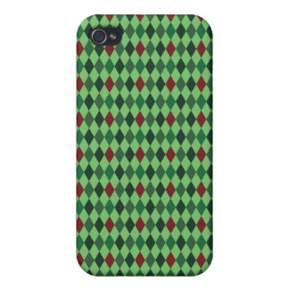 argyle print green iPhone 4 cases