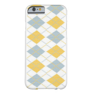 Argyle print white barely there iPhone 6 case