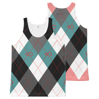 Argyle Revisited 3 All-Over Print Singlet