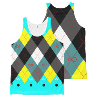 Argyle Revisited 7 All-Over Print Singlet