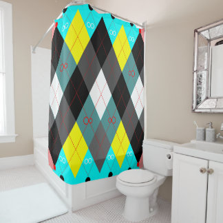 Argyle Revisited 7 Shower Curtain