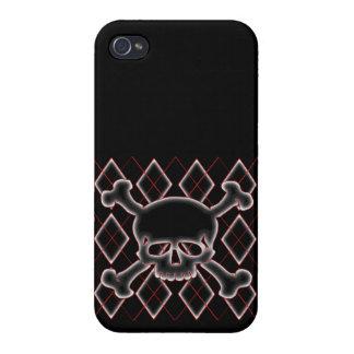 Argyle Skull iPhone 4 Cases