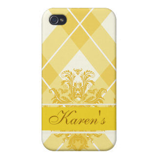Argyle Sunglow Yellow Case For The iPhone 4