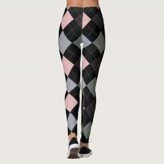Argyle Textile Pattern Leggings 01 Small