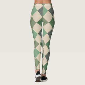 Argyle Textile Pattern Leggings 03 Small