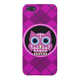 argyle with owl iPhone 5 covers