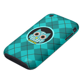 argyle with owl tough iPhone 3 covers