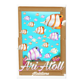 Ari Atoll Maldives travel poster Canvas Print