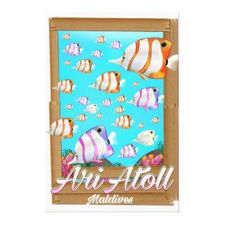 Ari Atoll Maldives travel poster Canvas Print