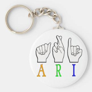 ARI FINGERSPELLED ASL NAME SIGN DEAF KEY RING
