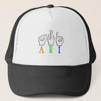 ARI FINGERSPELLED ASL NAME SIGN DEAF TRUCKER HAT