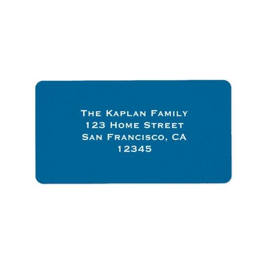 Ari Yonatan Blue Label Address Label