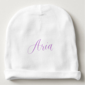 Aria - Modern Calligraphy Name Design Baby Beanie