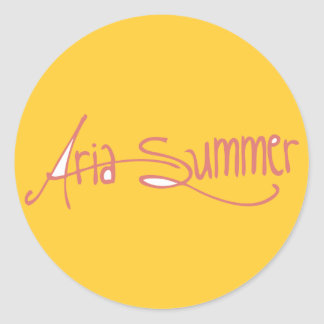 Aria Summer Logo Sticket Classic Round Sticker