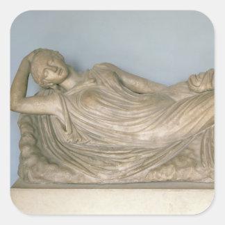 Ariadne Asleep, Hellenistic from Alexandria, 2nd c Square Sticker
