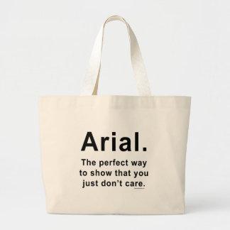Arial Font Humor Mug Jumbo Tote Bag