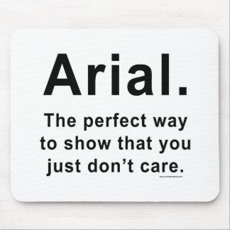 Arial Font Humor Mug Mouse Pad