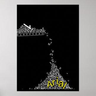 Arial Font Joke Falling Alphabet Poster
