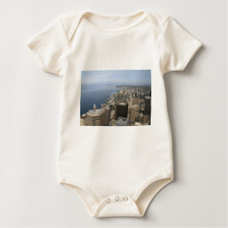 Arial View of Seattle Baby Bodysuit