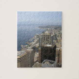 Arial View of Seattle Jigsaw Puzzle