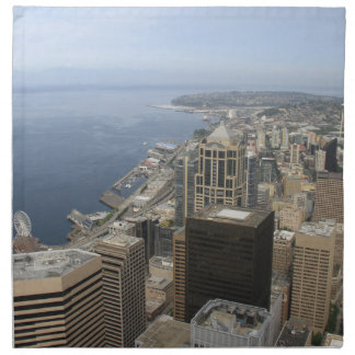 Arial View of Seattle Napkin