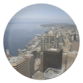 Arial View of Seattle Plate